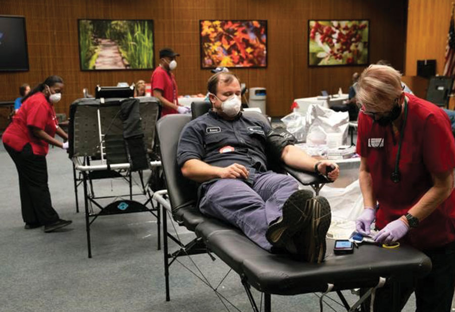 Santee Cooper, Berkeley County and Moncks Corner hold successful blood drive during COVID crisis