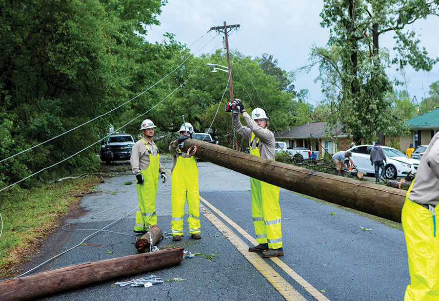 Santee Cooper restores most of system following storms, tornadoes