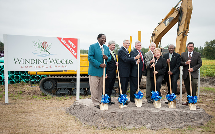 Dorchester County to build spec. building at a Winding Woods Industrial Park